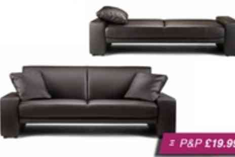 Express Living - Rio two seat faux leather sofa bed  - Save 66%