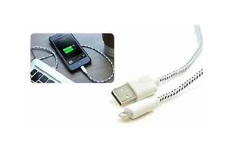 Spice Hot - Braided Phone Cable for iPhone 5/5s & iPad - Save 86%