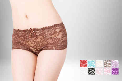 Suga Rush Love -  8 pack of lacy French knickers  - Save 71%