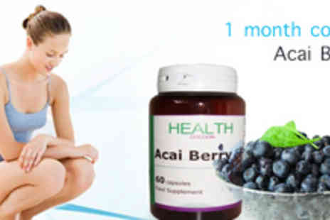 Health Cocoon - 1 Month Supply of Acai Berry Capsules - Save 70%
