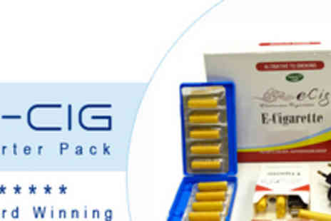 eCig - An Award Winning E Cigarette Starter Pack - Save 60%