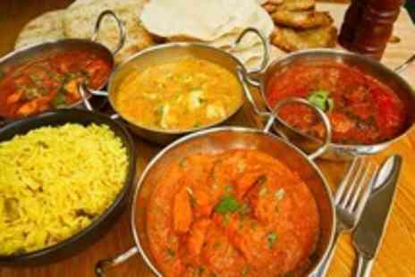 The Viceroy - Indian meal for 2 with papadoms, pickles plus a starter, main course & pilau rice each - Save 55%