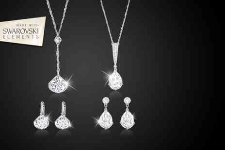 Magic Diamonds - Choice of two Swarovski Elements duo sets - Save 87%