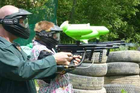 Amazon Outdoor Events - Paintball, BBQ and 100 Balls - Save 84%