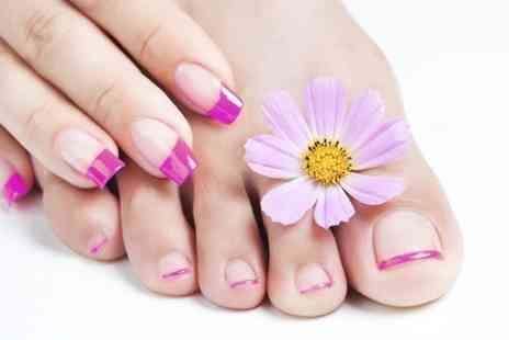 Spritz-Me -  Express or Deluxe  Manicure or Pedicure  - Save 50%