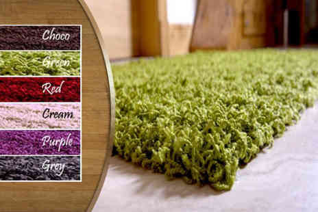 Furniture Deals - Small Sheek shaggy rug in a choice of colours - Save 64%