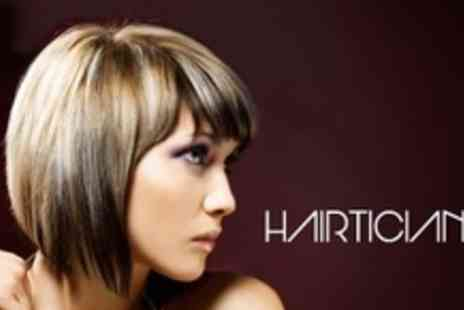 Hairticians - Full Head of Highlights or Colour Plus Wash, Cut and Blow Dry - Save 63%