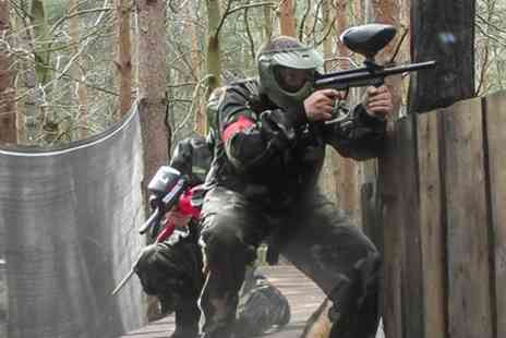 Top Dog Paintball - Paintballing For Four With 100 Rounds and Lunch - Save 55%