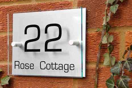 Design A House Sign - Personalised house sign - Save 60%