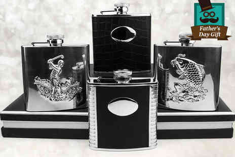 Aspire Jewellery Onlin - Hip Flask in Seven Different Styles - Save 59%