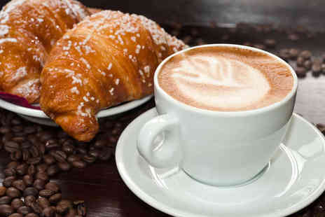 Coffee 2 Go - Breakfast with Choice of Pastry, Fresh Fruit or Yoghurt, and Coffee - Save 54%