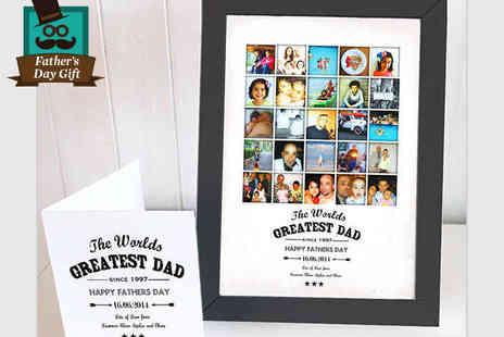 Treasure On The Wall - The Worlds Greatest Dad Collage and Card - Save 64%