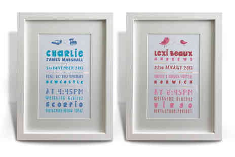 Creative Force - Personalised Baby Artwork - Save 25%