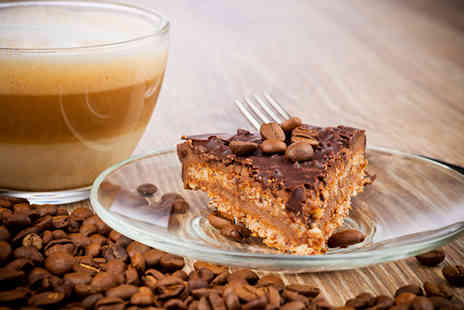 Grape & Bean - Coffee and cake for 2  - Save 52%