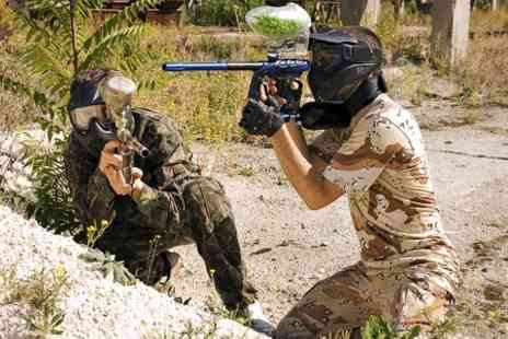 Allout Adventures - Paintballing For 5 With Lunch   - Save 91%