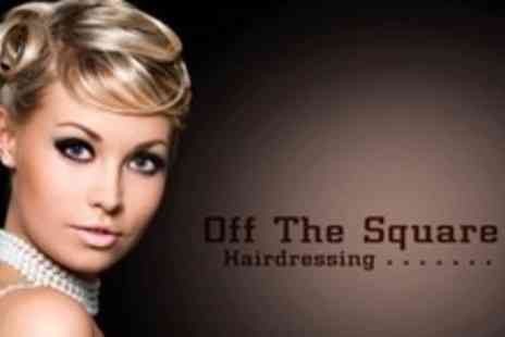 Off The Square Hairdressing - £20 Cut Blow Dry MOROCCANOIL Treatment and Head Massage - Save 71%