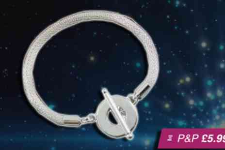 Amelia Zahara - Silver plated toggle bracelet - Save 96%