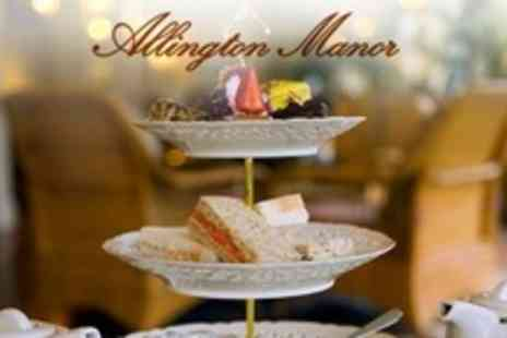 Allington Manor - Champagne Afternoon Tea For Two - Save 60%