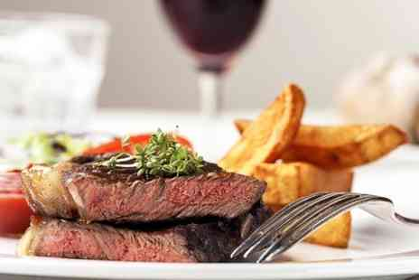 The Castle - Rib Eye Steak With Wine For Two  - Save 50%