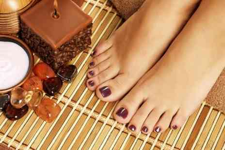 Estetika Studio - Shellac Manicure or Pedicure  - Save 58%