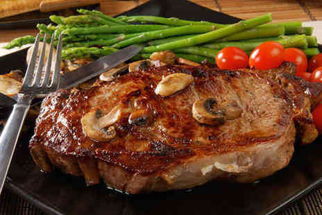 New York Cut - Starter and Main Course Including Steak Each for Two  - Save 0%