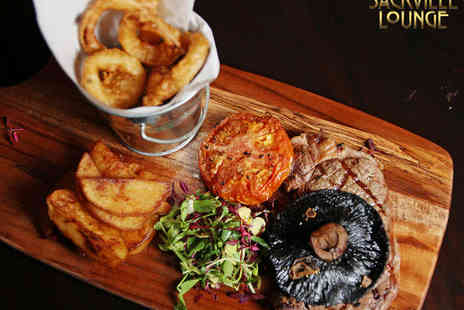 Sackville Lounge - Steak Meal with Prosecco Cocktail Each for Two People - Save 42%