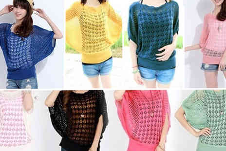 Dodally Buys - Crochet Knitted Batwing Top - Save 70%
