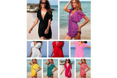 Dodally Buys - Kaftan V Neck Beach Dress - Save 70%