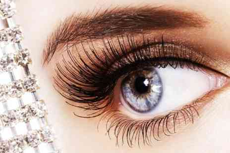 Shades Salon - Full Set of Eyelash Extensions With Tint Plus Eyebrow Wax and Tint - Save 56%