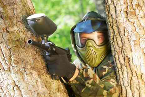 Paintball Challenge - One Day Experience With Lunch For Five  - Save 90%