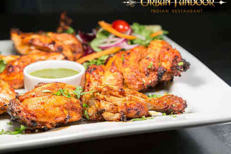 Urban Tandoor - Starter Main and Side Dish Each for Two People - Save 54%