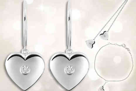 Mazal Diamond - White Gold Plated Sterling Silver Jewellery  - Save 79%