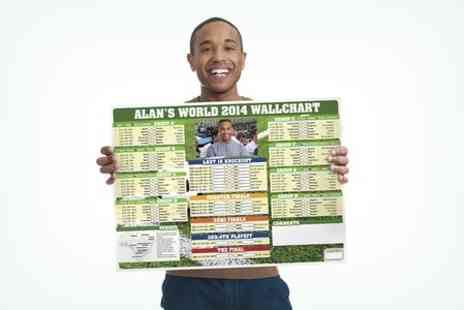 Snapajack - Personalised 2014 World Football Wall Chart  - Save 42%