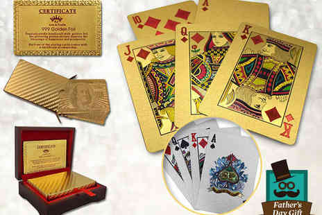 Osmoux - 24K Gold Plated or Silver Plated Playing Cards - Save 85%