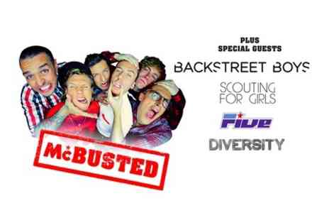 AEG Live UK -  Two Concert Tickets to McBusted and Backstreet Boys - Save 50%