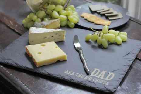 Treat Republic - Personalised Slate Cheese Board  - Save 50%