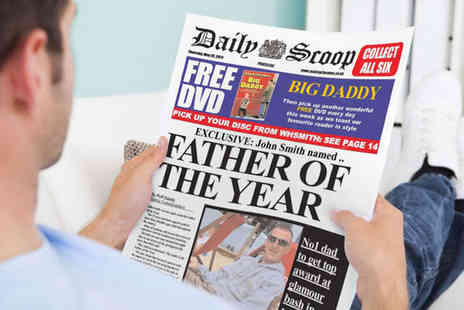 Fun and Unique Fathers Day Gift - One Personlaised Fathers Day Newspapers - Save 50%