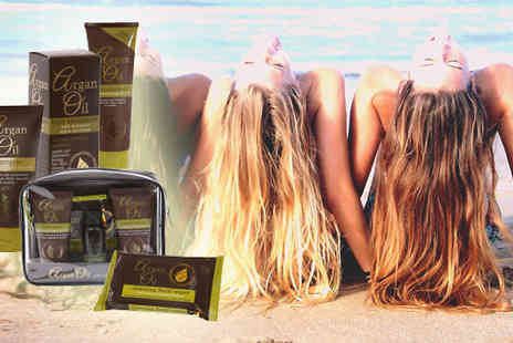 Chazooga - Four Piece Argan Oil Hair Travel Set  - Save 53%
