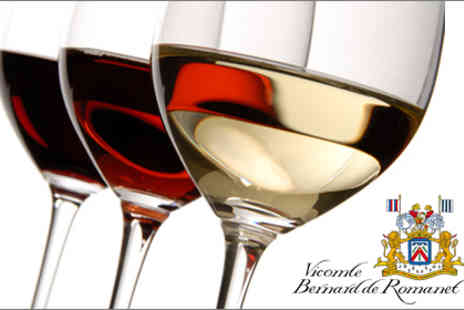 Vicomte Bernard de Romanet - Host a wine tasting experience in your own home for up to six people - Save 91%