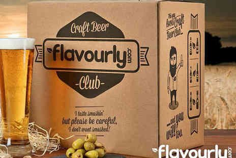 Flavourly - Beer and Snack Box with a £15 Gift Voucher  - Save 78%