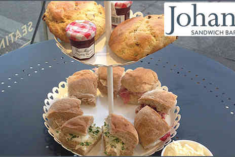 Johannes Sandwich Bar - Afternoon Tea for two, including a Surprise Treat - Save 45%