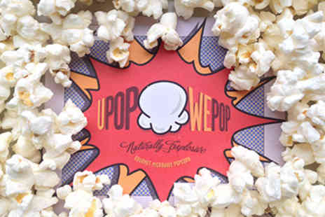 uPop wePop - Three  boxes of gourmet flavoured yummy, freshly made, microwave popcorn - Save 50%