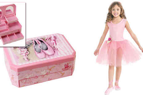 Tooltime  - Musical Ballerina Ballet Themed Auto Tray Jewellery Box  - Save 40%