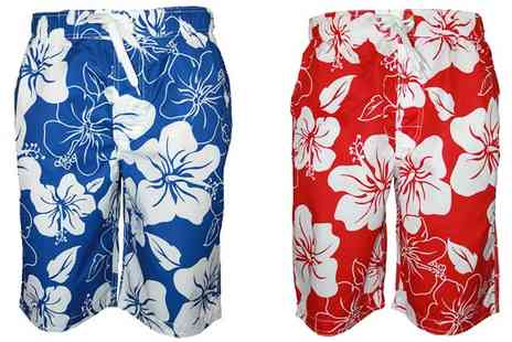 My1stWish - Mens Barnaby Printed Loose Fit Shorts - Save 61%