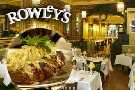 Rowley's Restaurant - Food & drink from the a la carte menu - Save %