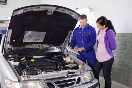 Euro Motor Servicing - Interim Car Service with Engine Oil and Filter Change, Full MOT, and Diagnostic Check - Save 74%