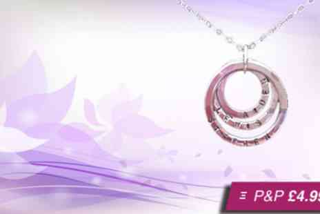 eLondonDiamonds - Three ring sterling silver necklace - Save 80%