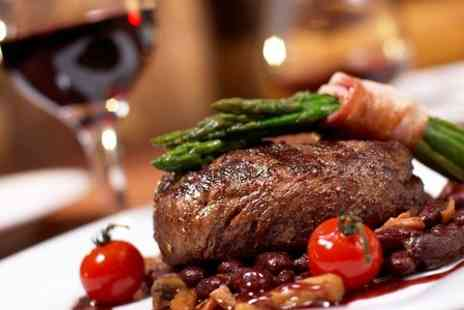 The Smarden Bell - Fillet Steak Meal With Wine For Two  - Save 50%