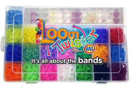 Spice Hot - Deluxe 3000 plus Rainbow Loom Band Craft Kit - Save 57%