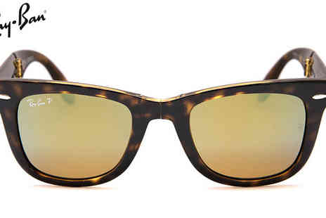 Discounted Sunglasses - Ray Ban Folding Wayfarer Sunglasses - Save 56%